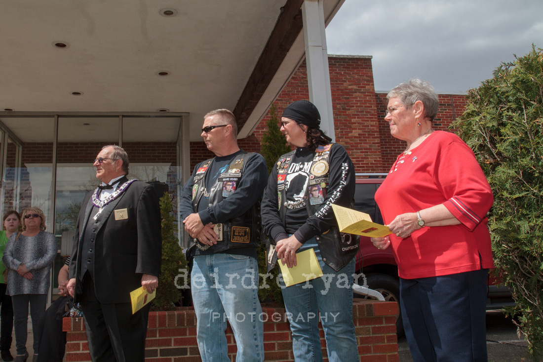 Bordentown Elks Honor and Remember Flag Raising Ceremony photographed for The Register News by Deirdre Ryan Photography.